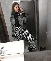 pants,girly,girly wishlist,checkered
