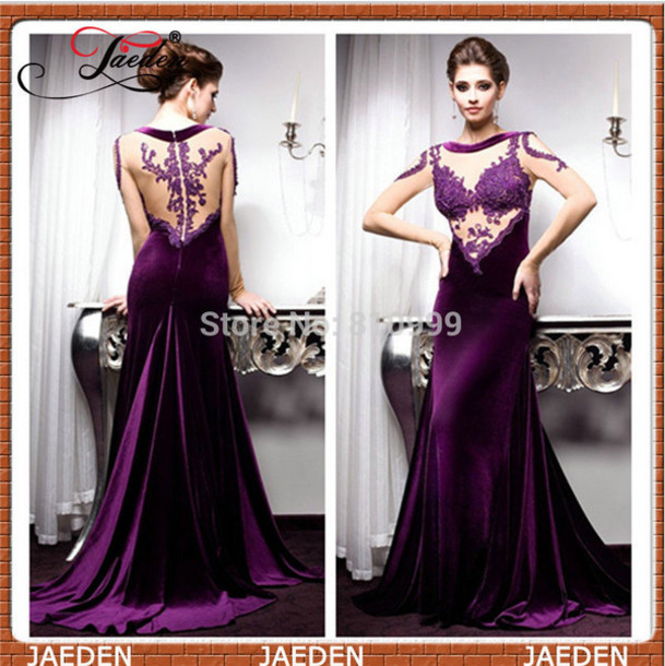 Remarkable, the Sexy purple long dress
