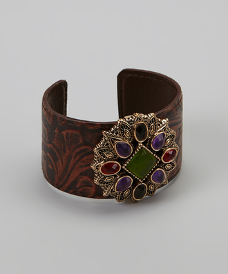 jewels classy purple and blue emerald green bracelets leather cuff bracelet