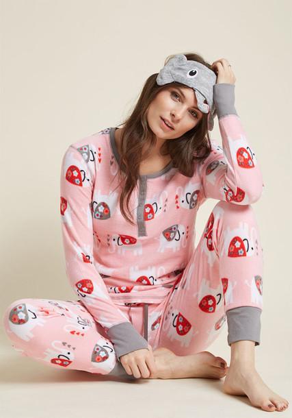 Modcloth sleep grey pink underwear