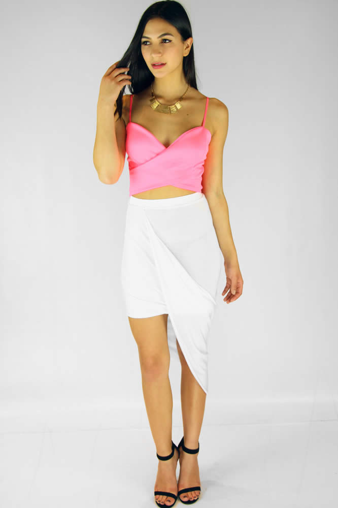 Wrap Me Skirt - White : Current Fashion Trends & Styles