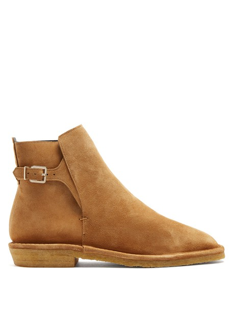 Robert Clergerie suede ankle boots tan ankle boots suede shoes