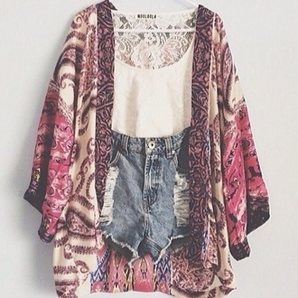 blouse lace pink vans shorts plus size top flowy t-shirt white t-shirt floral floral top crop tops jacket jeans white colorful kimono summer cardigan