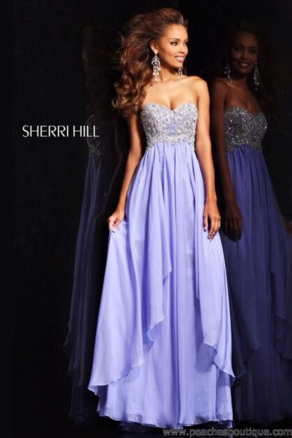 dress prom dress long prom dress lilac dress purple dress