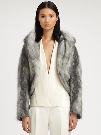 Alexander Wang - Hooded Mohair Shrug - Saks.com