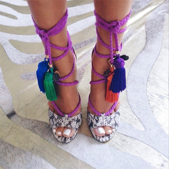 high heels lace up jimmy choo dream tassle shoes