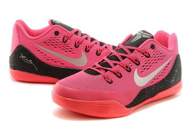 shoes black kobe pink