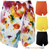 skirt,skorts,short,floral,orange,lemon,black,dress,sexy,summer,cute,spring,trendy,irregular,flange,Pin up