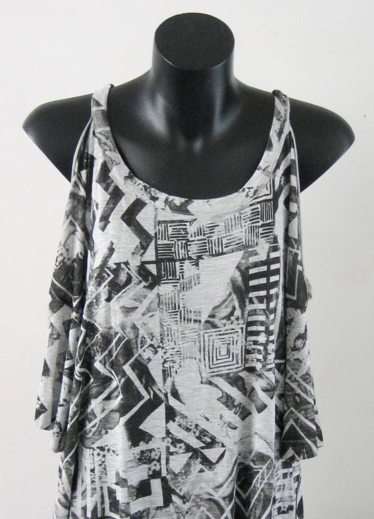 Bnwt something else grey/black print tee/top 8