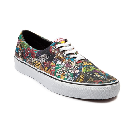 Vans Era Marvel Comic Skate Shoe, Black | Journeys Shoes