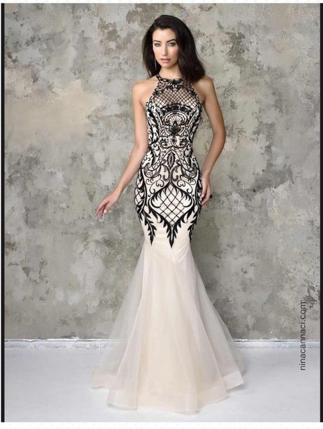 dress prom dress long prom dress black and white prom