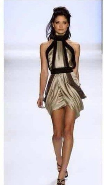 dress gold dress sexy dress fashion