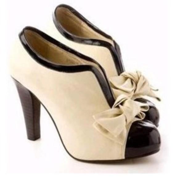 52b0b5aecfca shoes vintage old school black black shoes white high heels b w w b