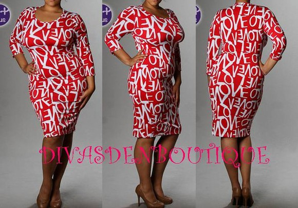 dress red red dress prints plus size dresses plus size curvy dress