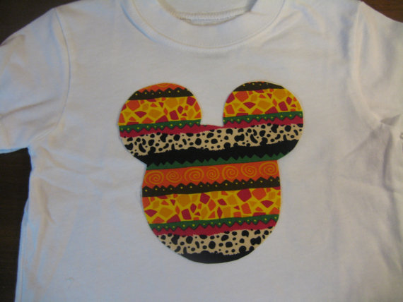 Disney Mickey Mouse Ears Jungle Animal Print by dreamdesignsdiane