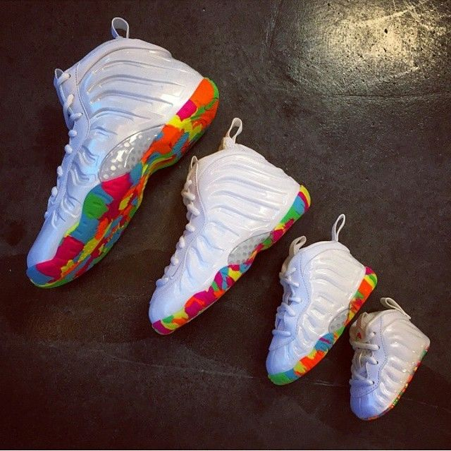 2ad21ca7a73 Nike Air Lil Posite FRUITY PEBBLES Foamposite 644791-100 CB TD ...