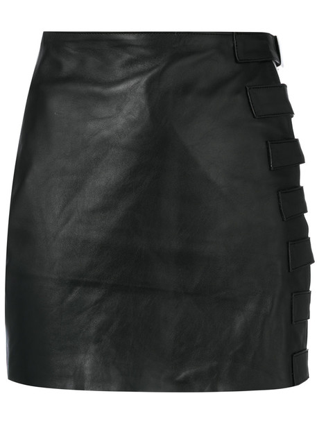 Manokhi skirt women leather black