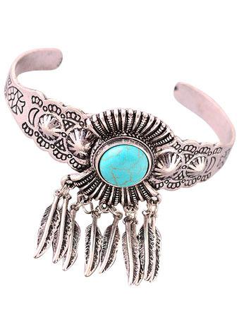Boho Feather Cuff Bracelet