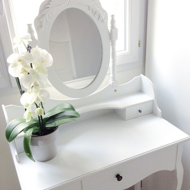 home accessory home decor coiffeuse rangement make-up blanc make-up makeup table