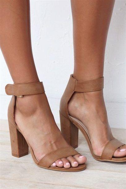 shoes heels nude heels strappy heels