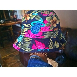 hat miami heat bucket hat floral floral bucket hat miami heat