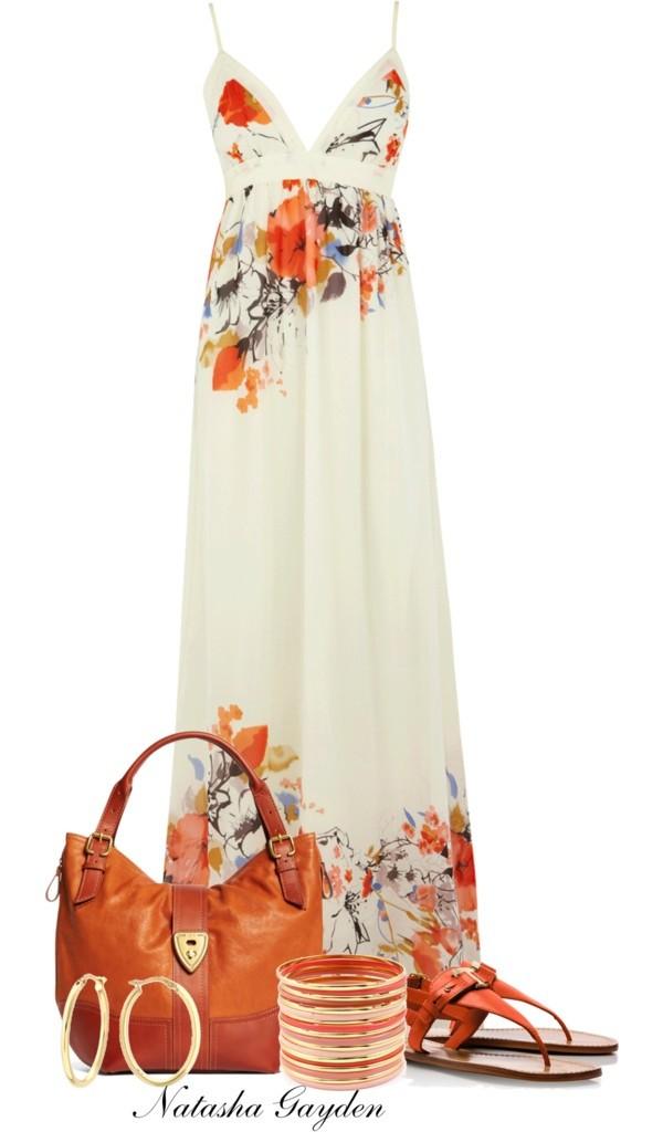dress floral summer coral v neck maxi maxi dress floral maxi dress silk dress white floral dress white orange maxi