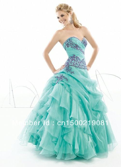 2013 sexy turquoise prom quinceanera jurken baljurken maat 2 4 6 8 10 12 16   14