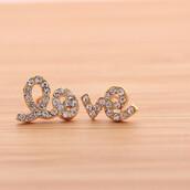 jewels,jewelry,earrings,love,love earrings,stud,lovely,crystal