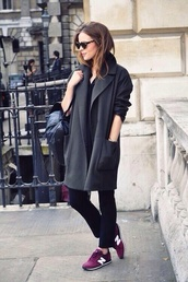 coat,grey wool coat,wool coat,grey coat,shoes,sneakers,new balance,black coat,jacket,burberry