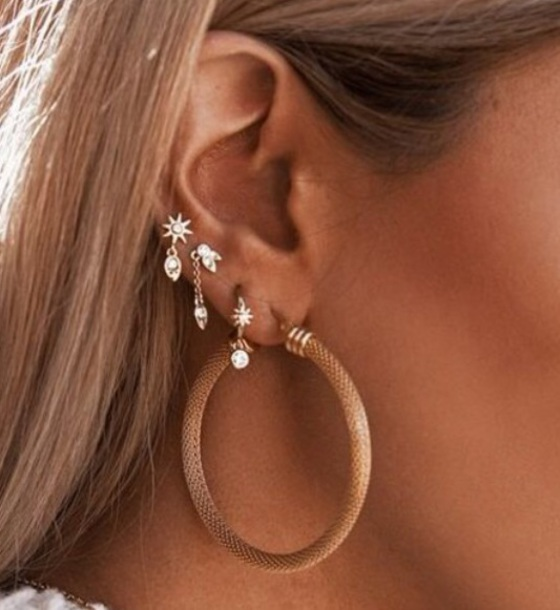 c1c068432 jewels, earrings, studs, hoop earrings - Wheretoget