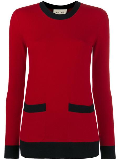 gucci jumper cashmere jumper women wool red sweater