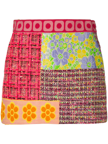 BOUTIQUE MOSCHINO skirt patchwork women cotton silk