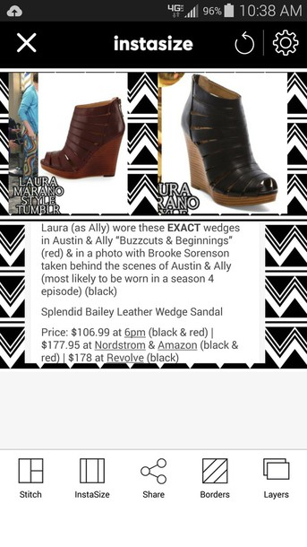 shoes laura marano red heels austin & ally season 4 black heels wedges wedges black heels/wedges