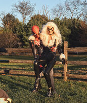 jumpsuit,pants,costume,halloween,halloween costume,halloween makeup,gigi hadid,zyan malik,model off-duty,zayn malik
