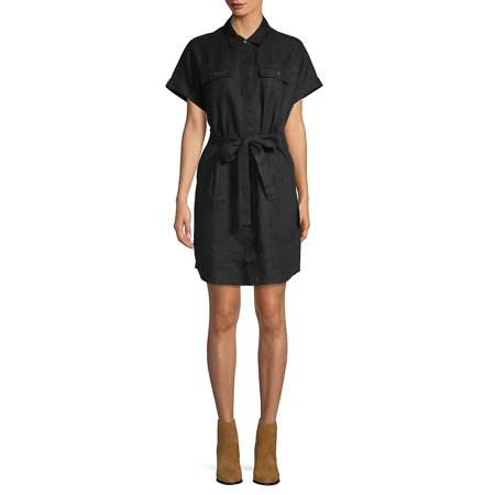 Lord & Taylor - Tie-Front Short-Sleeve Dress - Walmart.com