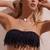 Dolly Knotted Fringe Bandeau Black - Final Sale