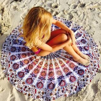 home accessory tapestry bohemian boho dress bohemian dress hippie hippie dress trippy beach beach dress beach house beach towel