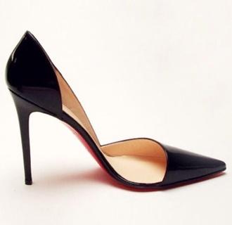 shoes christian louboutin classy black heels court heels