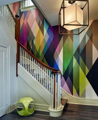 home accessory wall decals wallpaper geometric