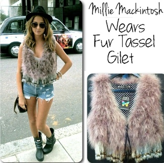 jacket millie mackintosh fur gilet
