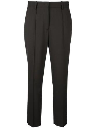 cropped women spandex cotton wool green pants