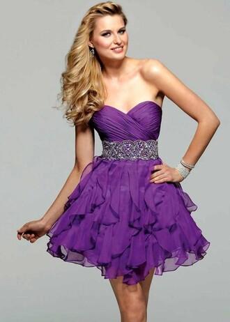 dress purple girl prom sparkle violet glitter purple dress