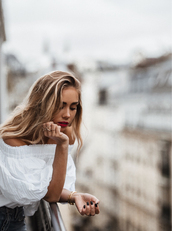 jewels,bracelets,tumblr,gold jewelry,jewelry,blonde hair,long hair,hair,top,white top,off the shoulder,off the shoulder top,gold bracelet,ring,gold ring,nail polish,nails,dark nail polish,red lipstick,lipstick
