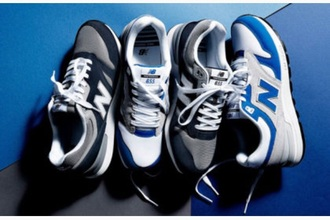 shoes new balance white dark blue sneakers blue grey