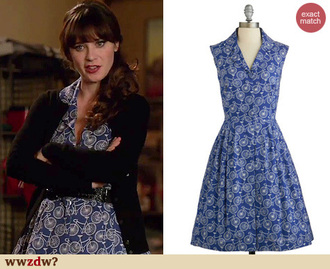 blogger dress retro new girl zooey deschanel