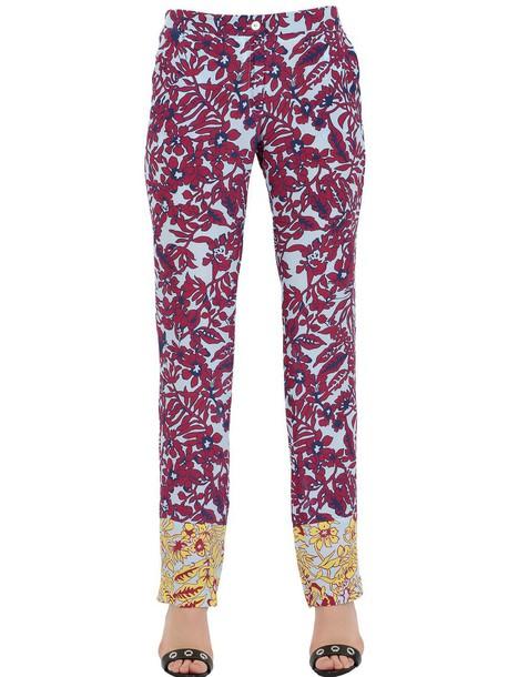 MONOCROM pants floral silk