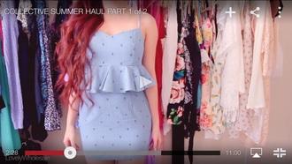 dress two piece dress set denim dress summer dress cute dress