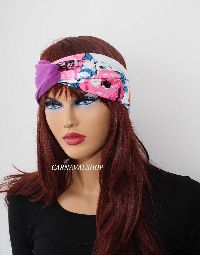 Violet stretchy headband yoga headband ear warmer women's headband birthday gifts fashion accessory