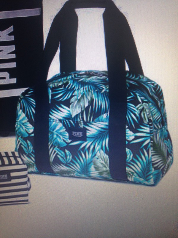 Bag: duffle bags, tropical, pink by victorias secret - Wheretoget