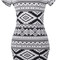 Maya aztec bodycon dress – outfit made